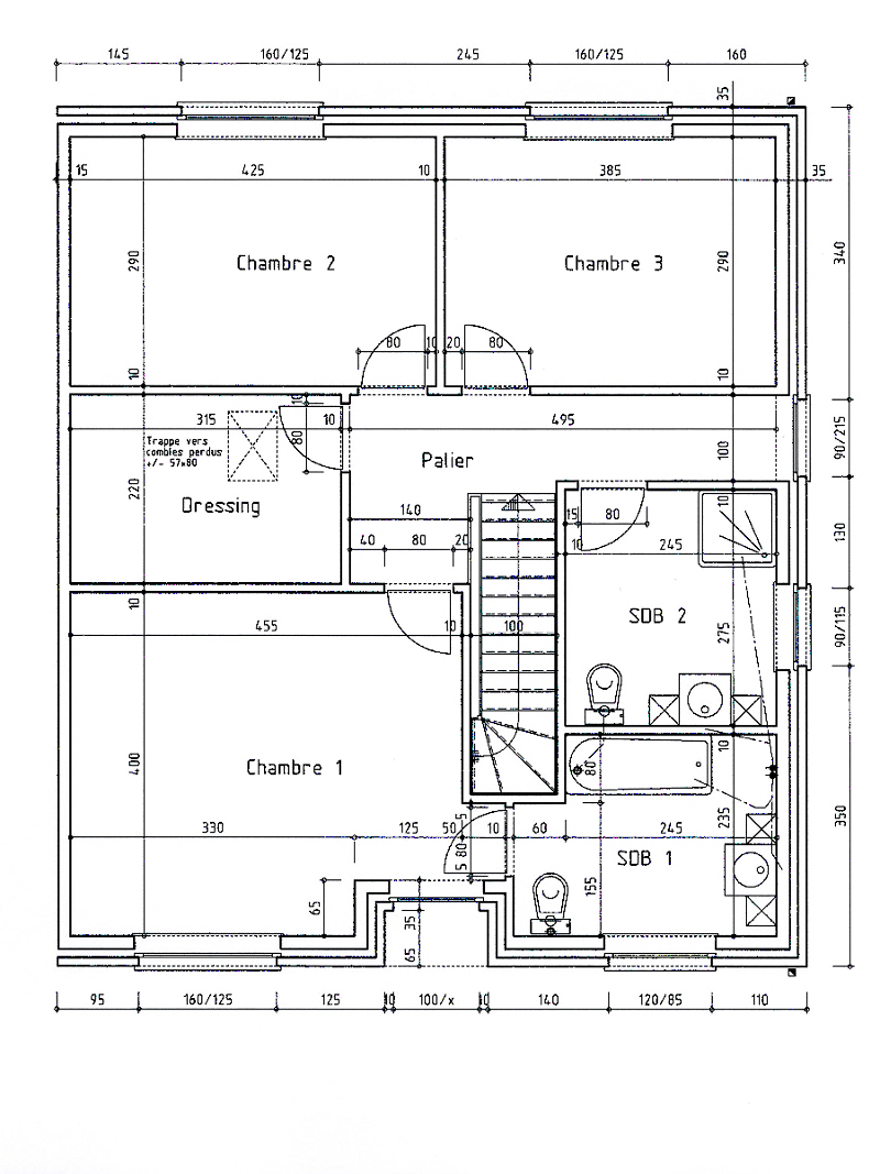 Plan de maison 3 facades for Plan maison 3 faces